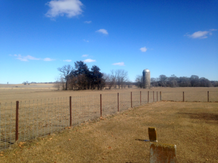 abandoned farm from cemetery